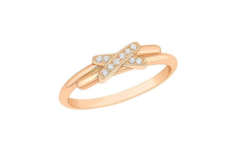 Premiers Liens de Chaumet 18ct rose-gold and diamond ring