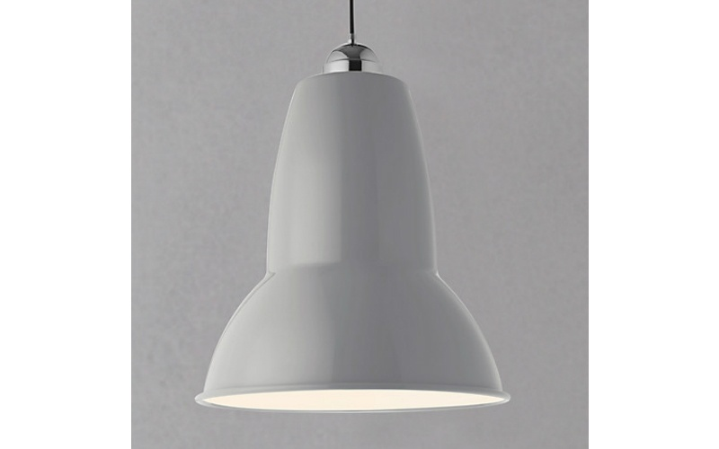 ORIGINAL 1227 GIANT PENDANT CEILING LIGHT IN DOVE GREY