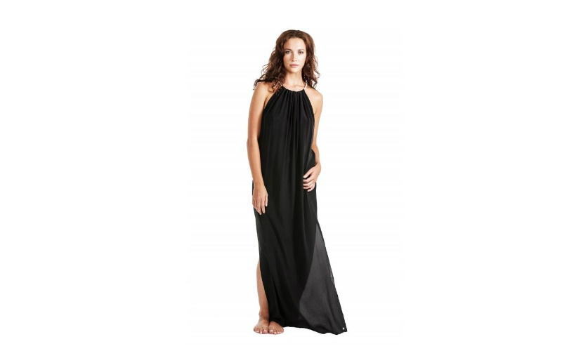 Silk Maxi Dress - Black
