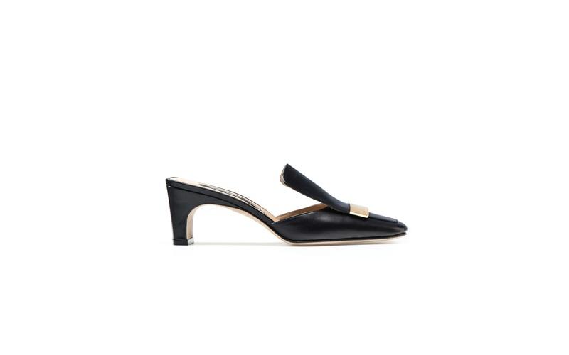 SR1 Black Mid Heel