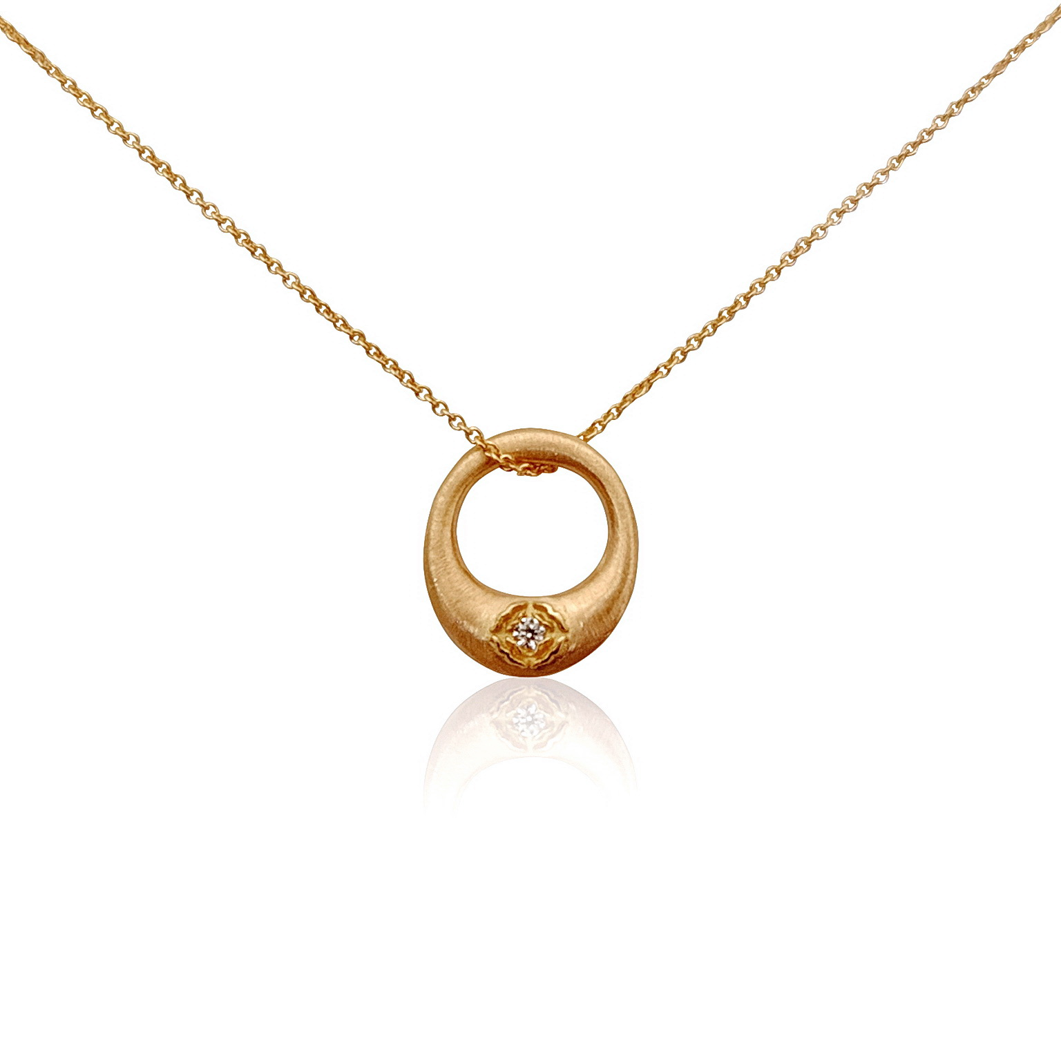 'Little Luca' 18 Carat Rose Gold and Diamond Necklace
