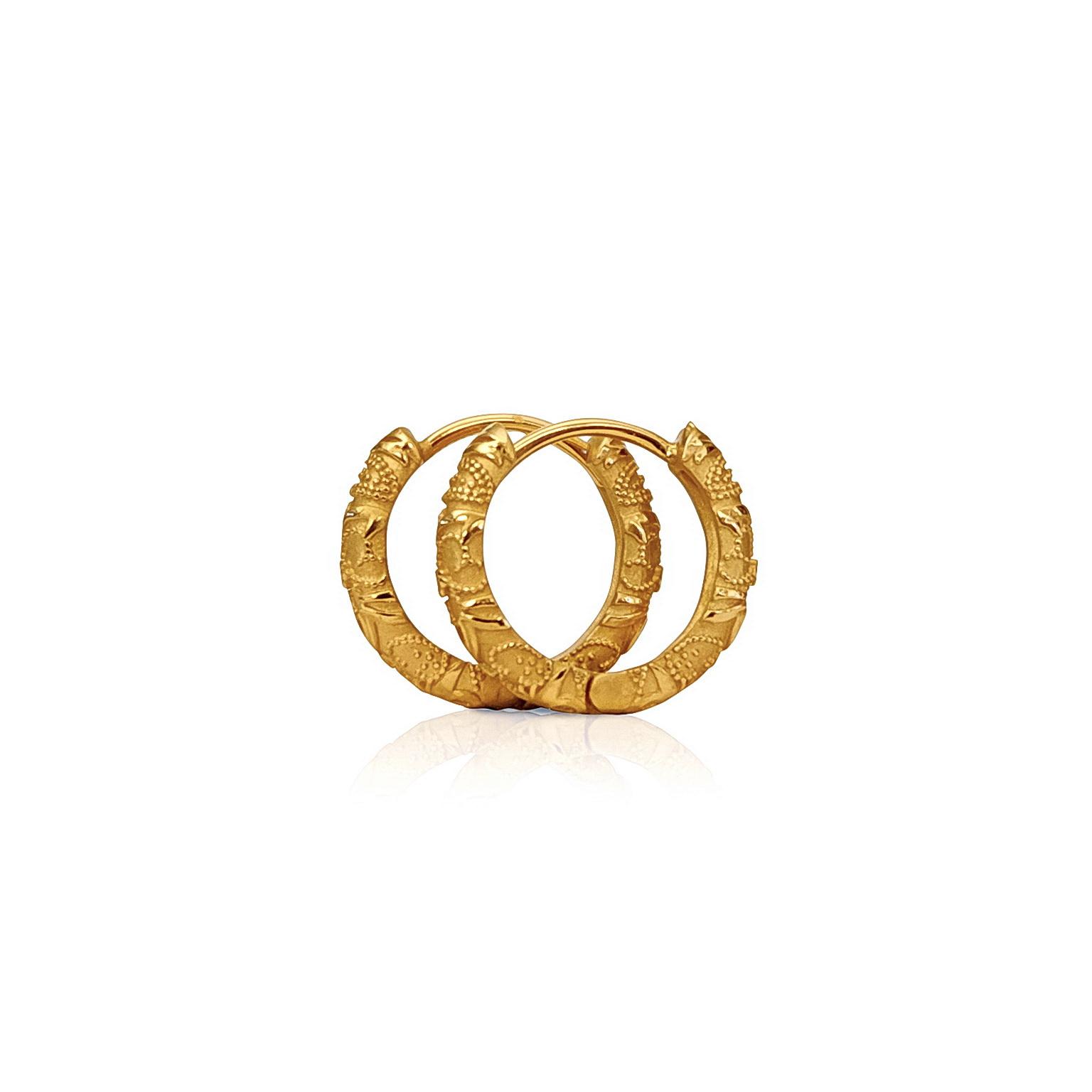 'Little Luca' 18 Carat Yellow Gold Earrings