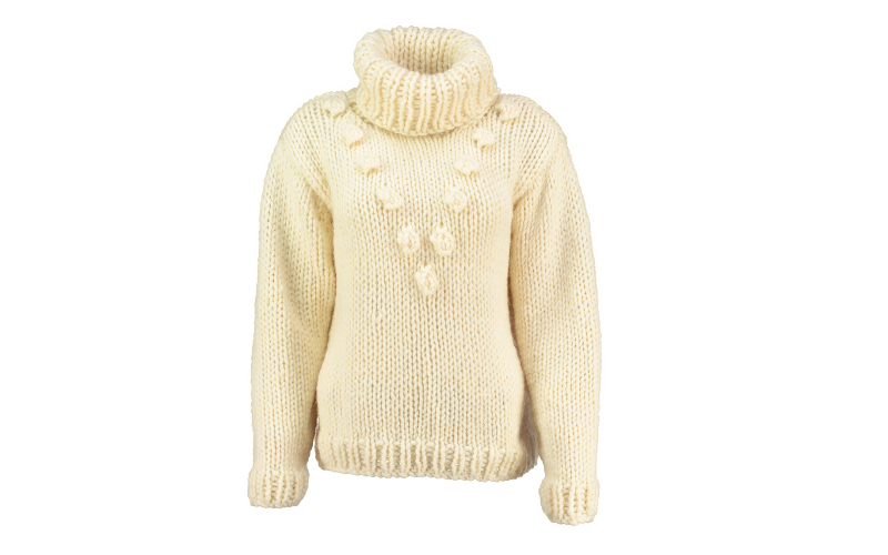 CHUNKY BOBBLE KNIT SWEATER
