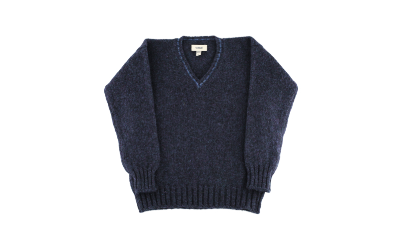 Denim V-Neck Pullover