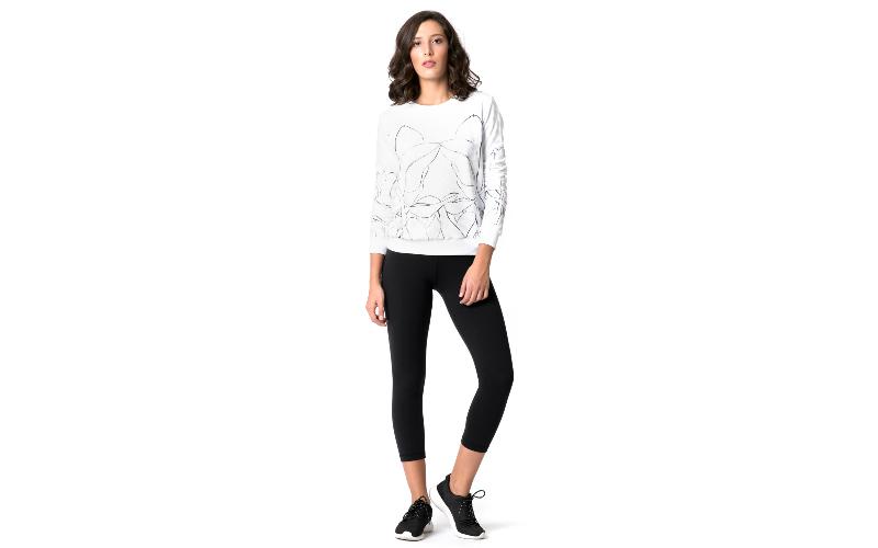 Cotton Sweatshirt in White