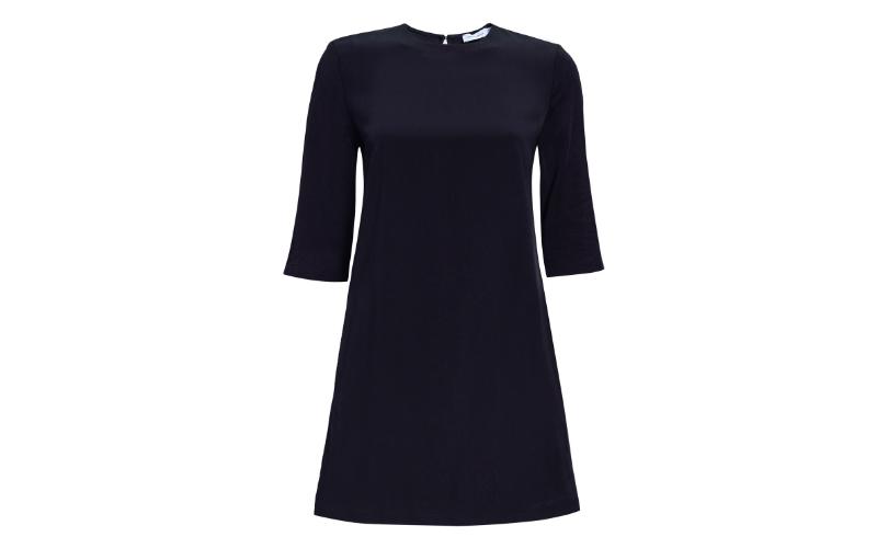 Tencel Box Dress in Black
